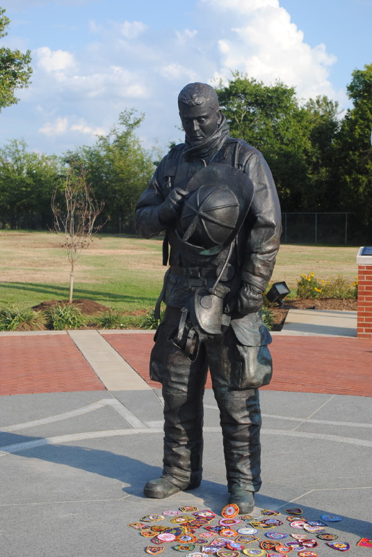 "TN. Fallen Firefighter Memorial .. Bronze .. 7\'6""h"