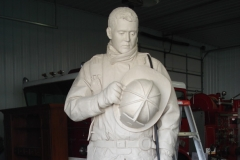 "TN Fallen Firefighter Memorial .. clay ... 7'6""h"