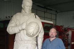 TN Fallen Firefighter Memorial (clay) and sculptor Scott Wise